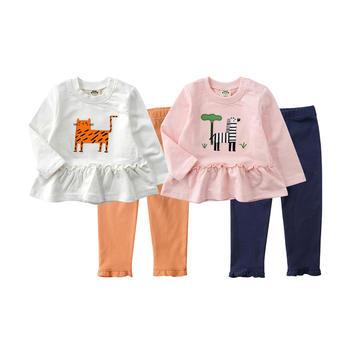 minizone女童春秋卡通2件套套装