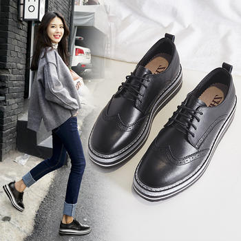 ZHR女鞋韩版厚?#23039;?#31957;鞋百搭单鞋