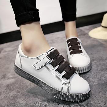 艾微妮学院风韩版魔术贴小白鞋