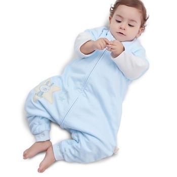 欧孕草珊瑚婴儿睡袋宝宝春秋纯棉睡袋儿童防踢被