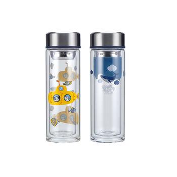 320ml海洋系列双层耐热玻璃水杯