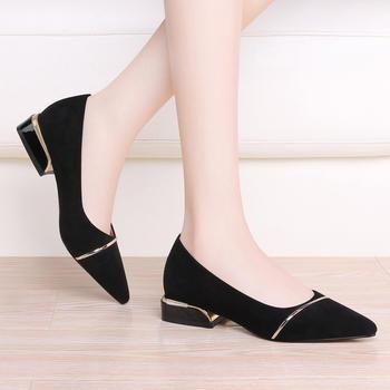 尖头?#25351;?#22899;鞋百搭套脚纯色鞋子