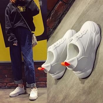 艾微妮韩版新款学院风休闲小白鞋