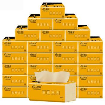 奕辰竹浆纸3层本色餐巾纸整箱30包