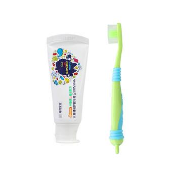 海绵宝宝儿童健齿防蛀护龈牙膏香橙味50g