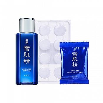 雪肌精 SEKKISEI 美肤3件套(洗颜皂10g+纸膜8粒+化妆水24ml)