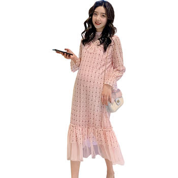 欧丽妈咪孕妇连衣裙春装新款时尚款大码中长款孕妇裙