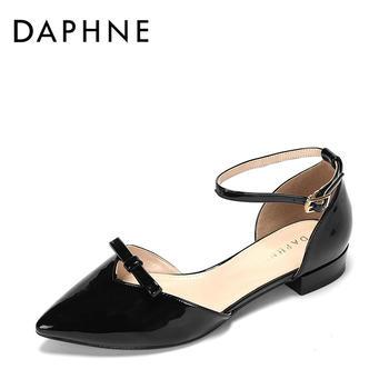 Daphne/达芙妮一字扣带单鞋1017102009