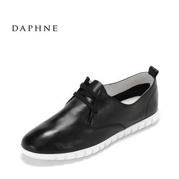 Daphne/达芙妮平底系带白鞋1017101020