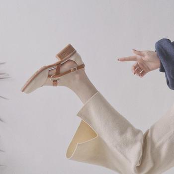 奥古女鞋夏季韩版圆头高跟鞋短靴粗跟复古百搭包头