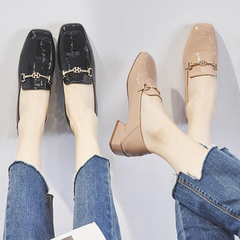 ZHR新款韩版小皮鞋女ins百搭单鞋女