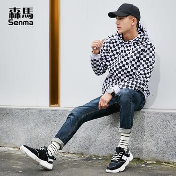 森马2019鞋子男休闲鞋透气网面鞋