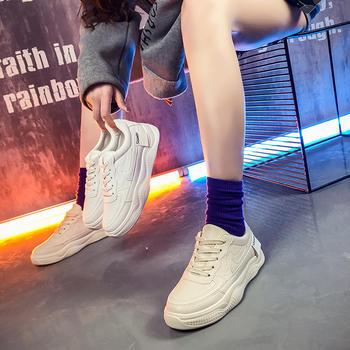 慕沫春季新款休闲鞋系带小?#20180;?#22899;