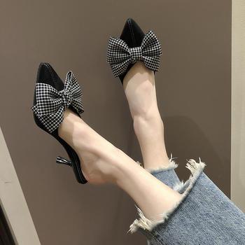 慕沫春款单鞋女高跟鞋细跟尖头鞋