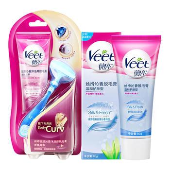 薇婷 沐浴用脱毛膏100g+温和护肤80g