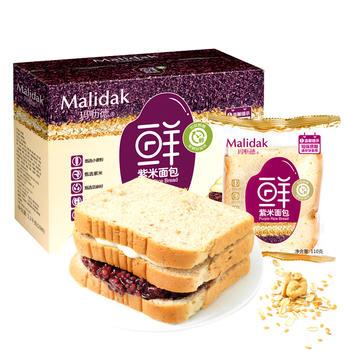 玛呖德坚果紫米面包1100g夹心奶酪糕点吐司