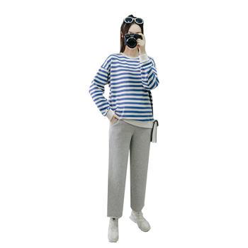 蚕坊俪 韩版宽松上衣+裤子两件套 产后穿着 依旧美丽