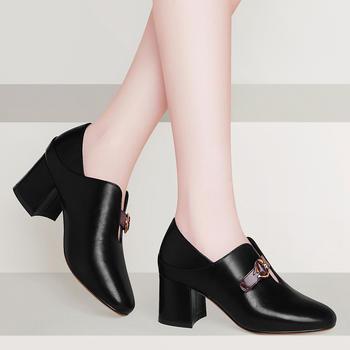单鞋女春季新款百搭韩版高跟单鞋