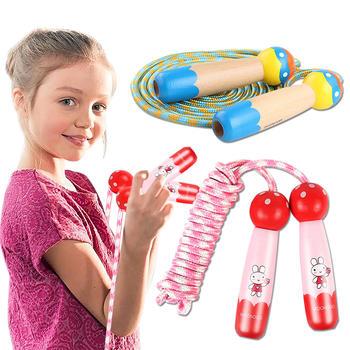 奥智嘉卡通趣味儿童木质跳绳健身玩具