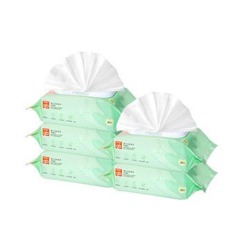 gb好孩子新生婴儿湿巾茶树精华湿纸巾80片*5包