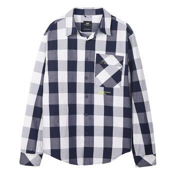 Lee 新款2019格子纯棉休闲长袖衬衫 L327264DZ9PC