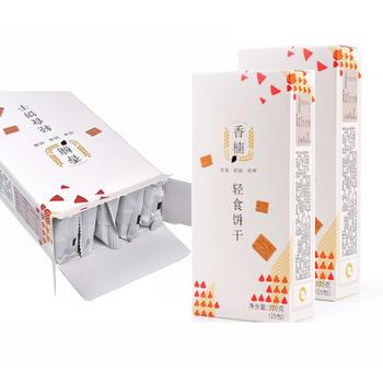 香楠代餐饼干粗粮零食无蔗糖添加轻食饼干370g*3盒装