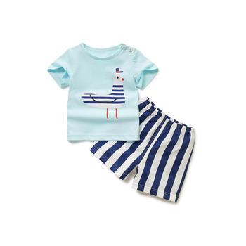 Cipango 夏季新款可爱宝宝套装 婴幼儿纯棉衣服