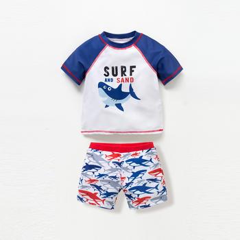 猪猪的故事儿童泳衣1-3岁小童婴儿分体游泳衣卡通