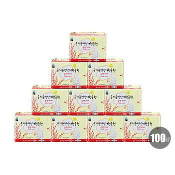 韩国•恩芝Eunjee纯棉日用卫生巾250mm/10P*10