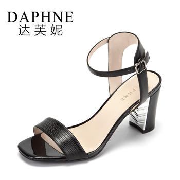 Daphne/达芙妮露趾高跟女鞋简?#23478;?#23383;扣带?#25351;?#20937;鞋