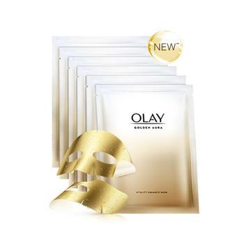 玉兰油OLAY菁醇密集修护熬夜黄金面膜6片