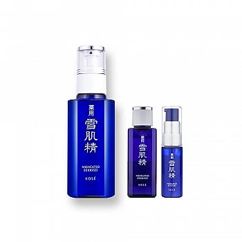 雪肌精盈润套装(雪肌精乳液 130ml+化妆水24ml+防护精华液 20mL)