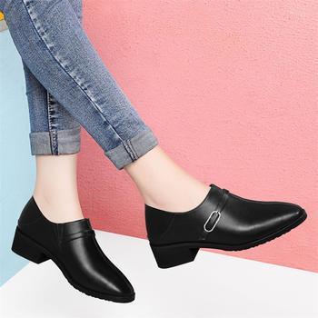 新款平底中跟网红百搭韩版潮单鞋