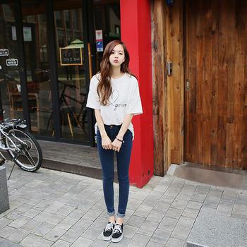 劳保拉春夏季薄款韩版女装九分裤小脚裤显瘦紧身