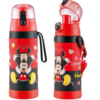 迪士尼儿童卡通直饮两用不锈钢保温杯500ml送吸管盖