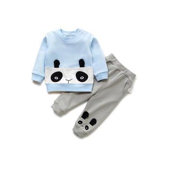 Cipango 新款可爱宝宝小熊猫卫衣套装