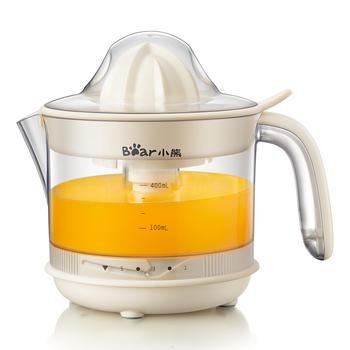 小熊榨汁机电动迷你料理机榨橙汁杯趣做原味果粒橙