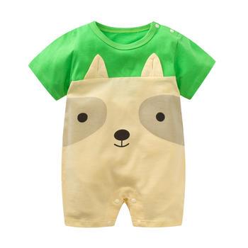 Cipango 夏季新款可爱宝宝平角哈衣 纯棉婴幼儿衣服