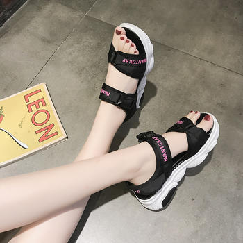 佑黛夏季新款凉鞋韩版学生运动休闲鞋厚底增高鞋女鞋