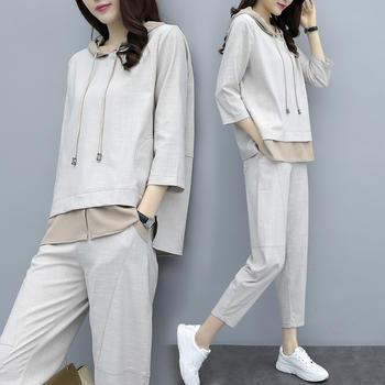 时尚宽松大码气质休闲运动两件套装女