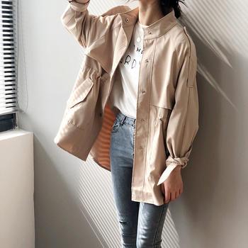 风衣女短款2019早春新款韩版上衣学生宽松外套