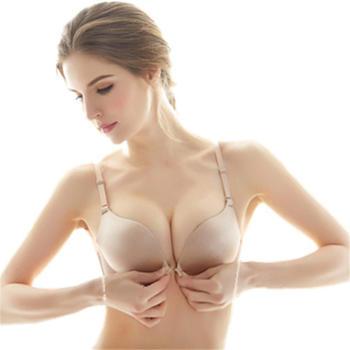 无钢圈罩美背内衣女小胸聚拢性感一片式无痕胸罩