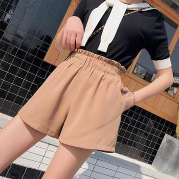 露雪花苞阔腿短裤女夏外穿显瘦高腰韩版宽松五分雪纺