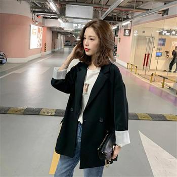 KDN2019春秋裝新款復古網紅韓版外套休閑英倫風小西裝