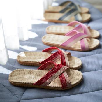远港四季亚麻拖鞋 添加抗菌银离子 男女居家防滑按摩