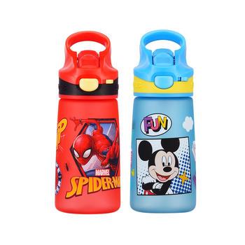 迪士尼儿童运动防漏耐摔宽嘴带安全锁吸管杯500ml