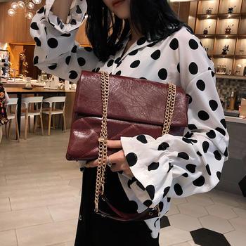 雅诗罗欧美时尚信封包包单肩大容量链条斜挎女包