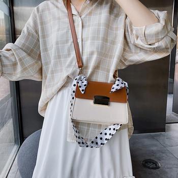 天彩翼飞韩版新款丝巾手提包包女单肩斜挎小方包