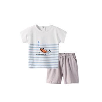 舒贝怡 宝宝短袖套装?#30007;?#38386;两件套