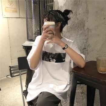 美丽后2019新款宽松韩版BF风T恤上衣百搭潮